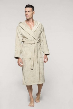 VELOUR HOODED BATHROBE