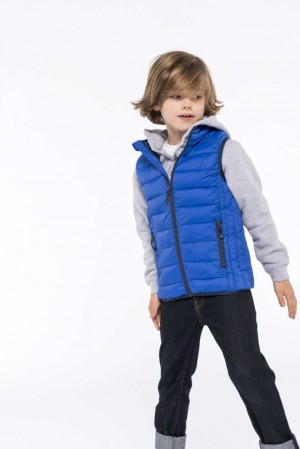 KIDS' LIGHTWEIGHT SLEEVELESS PADDED JACKET
