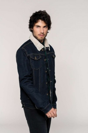 MEN'S SHERPA-LINED DENIM JACKET