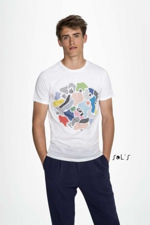 MARVIN MEN'S ROUND-NECK FITTED T-SHIRT